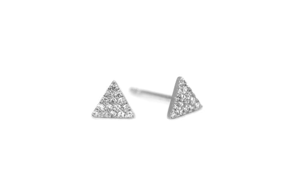 Love Triangle Diamond Mini Earrings