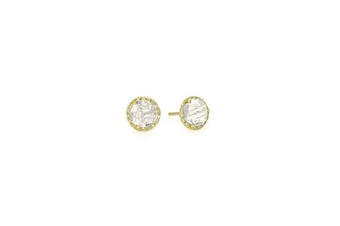 Mimi White Topaz Earrings Yellow Gold