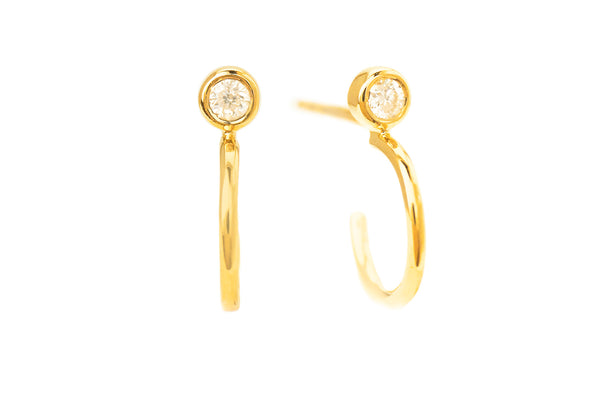 Becca Diamond Stud with Hoop Yellow Gold