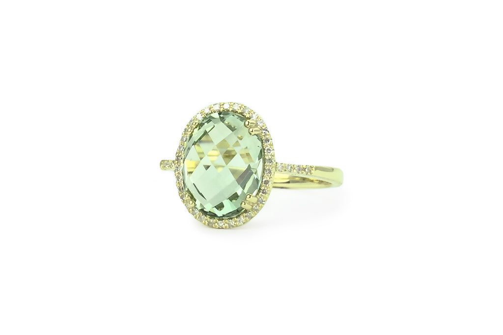 Charish Green Amethyst Ring