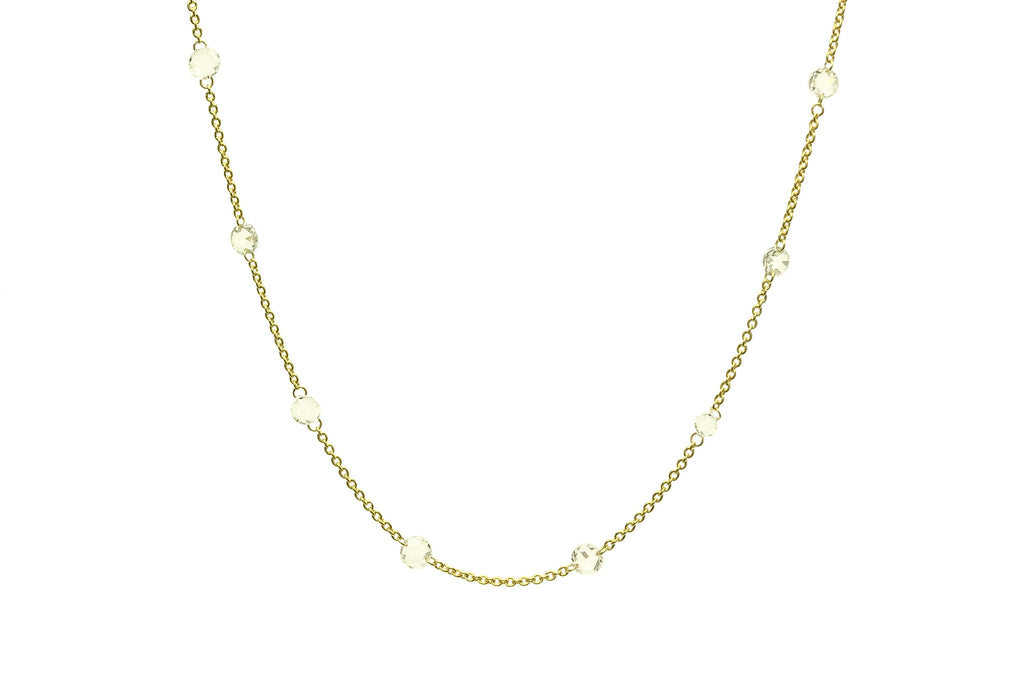 Serenity Diamond Bead Necklace Yellow Gold