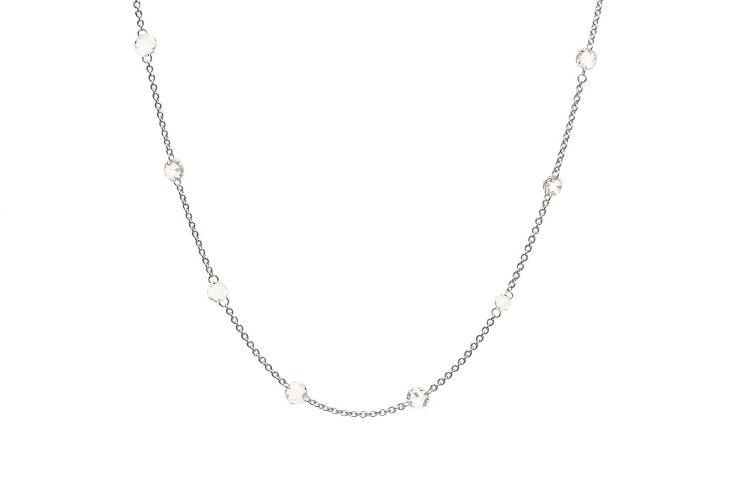 Serenity Diamond Bead Necklace White Gold