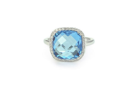 Faye Blue Topaz Ring
