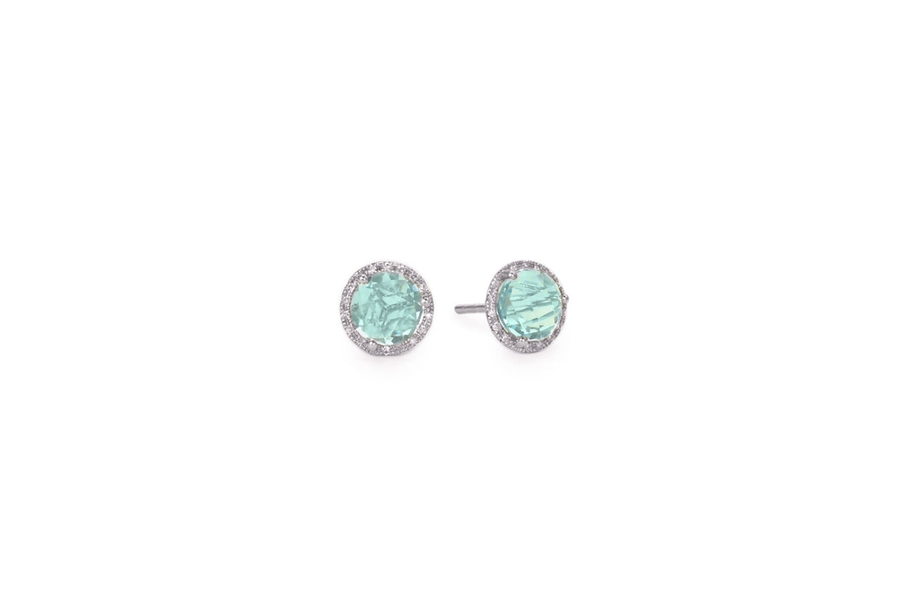 Mimi Blue Topaz Earrings White Gold