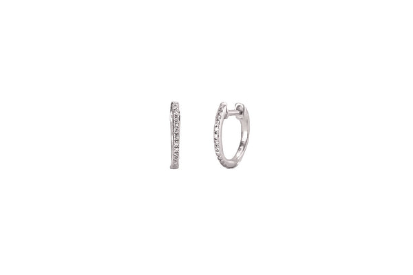Joelle Mini Huggie Earrings White Gold