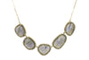5 Slice Labradorite and Diamond Necklace