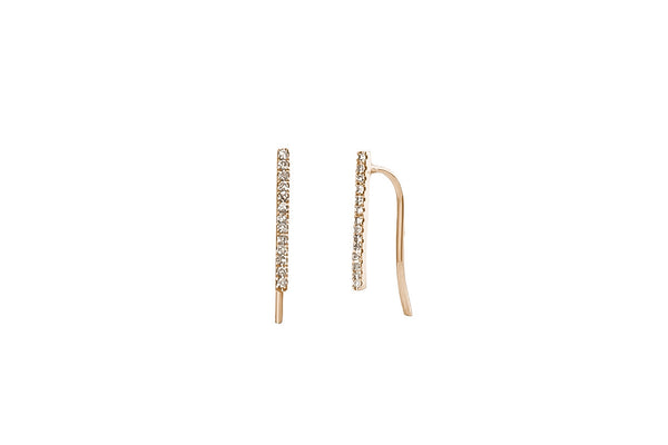 Draw the Line Diamond Rose Gold Earrings