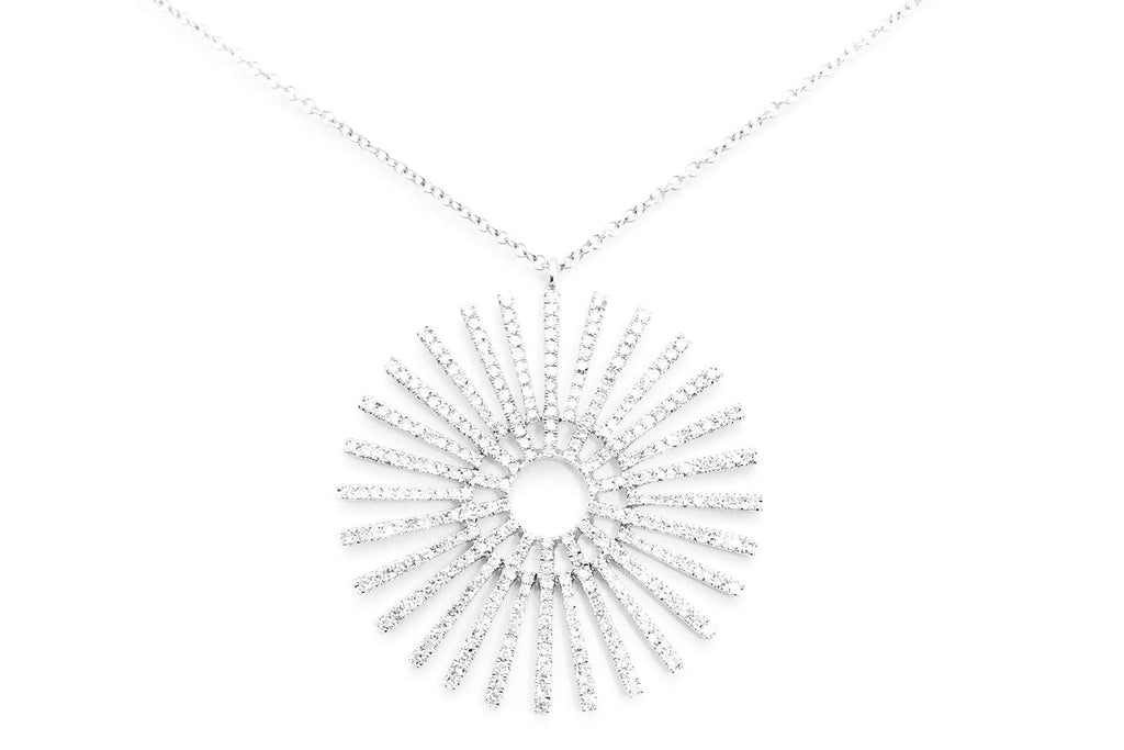 Sunburst Diamond Necklace