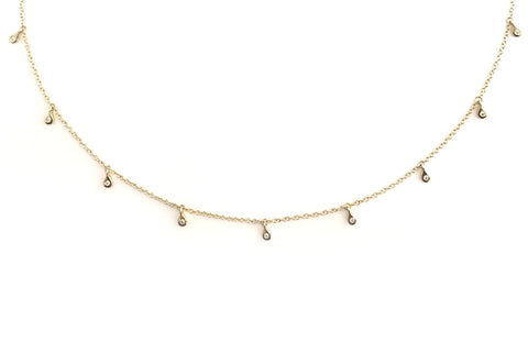 9 Diamond Dangles Necklace