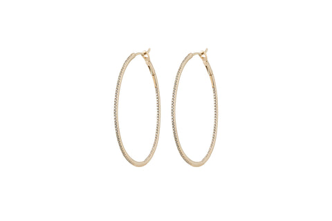 Evelina Diamond Oval Hoops