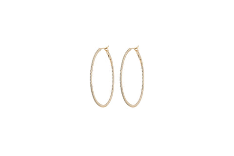 Juliana Diamond Oval Hoops
