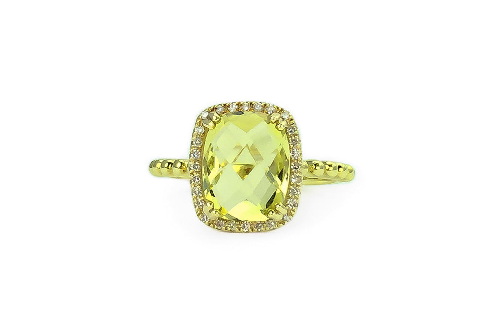 Sloane Lemon Quartz Ring