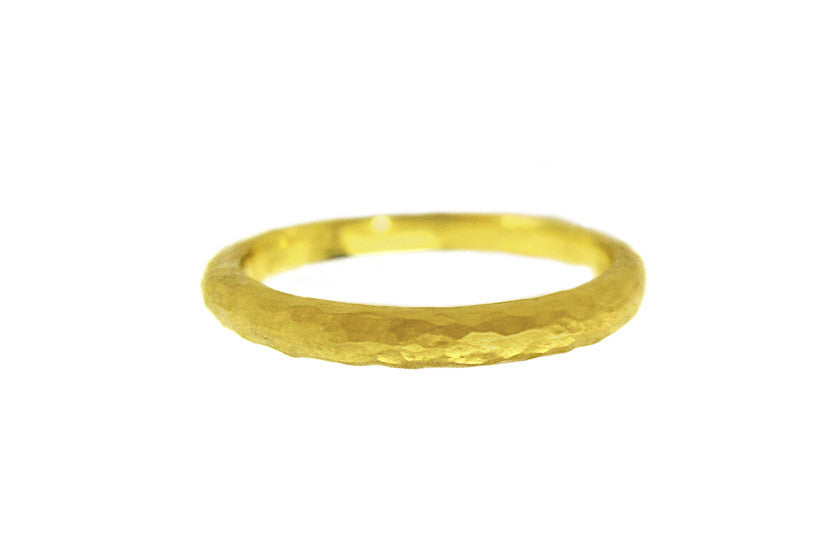 Yellow Gold Hammered Band
