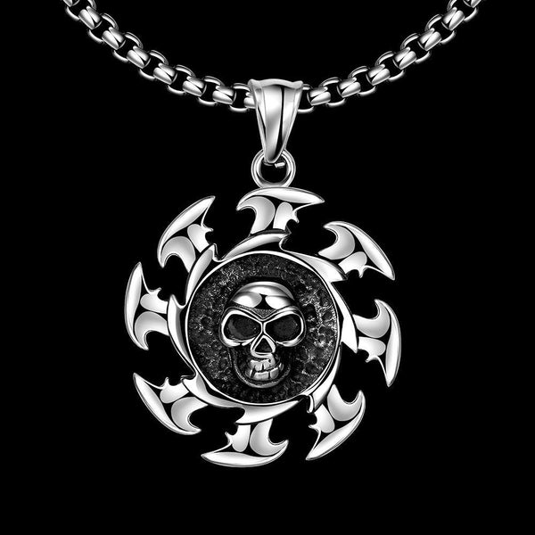 Skull Blade Stainless Steel Necklace - Deadbeat Duds