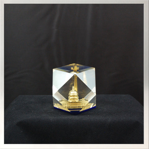 Paperweight, Crystal DC Monuments
