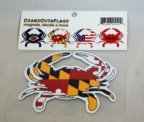 Maryland Flag Crab Magnet