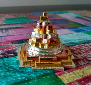 Meru Shree Yantra Ashtadhatu metal