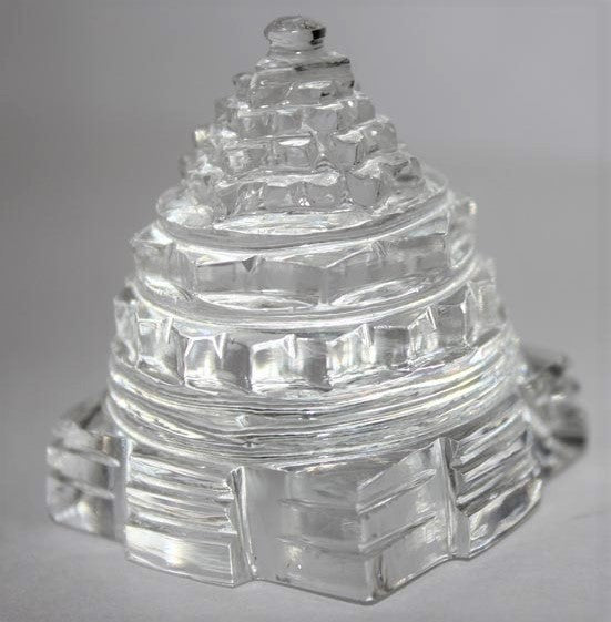 Sphatik crystal shree yantra meru pure