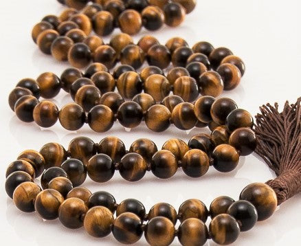 Tiger eye gemstone rosary mala