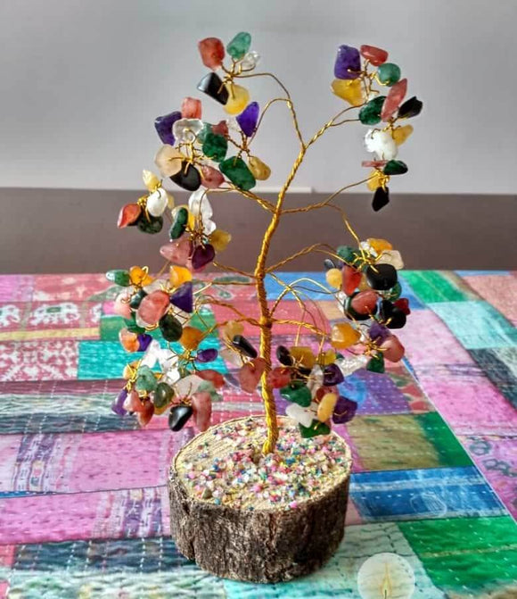 Fengshui navratan gemstone tree