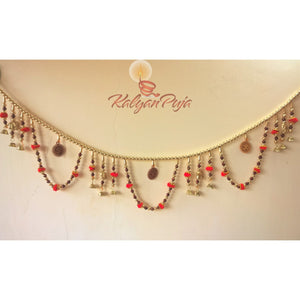 Decorative Colourful Golden Beads Bandhanwar