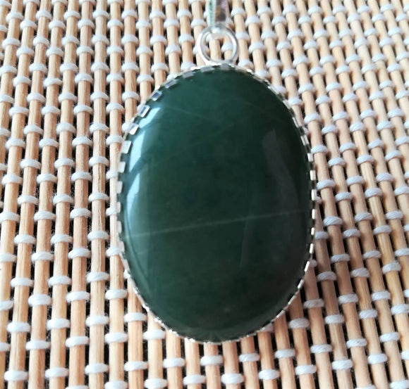 green jade margaj aventurine locket