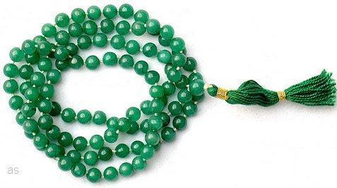 Green hakik agate mala for Budh Mercury