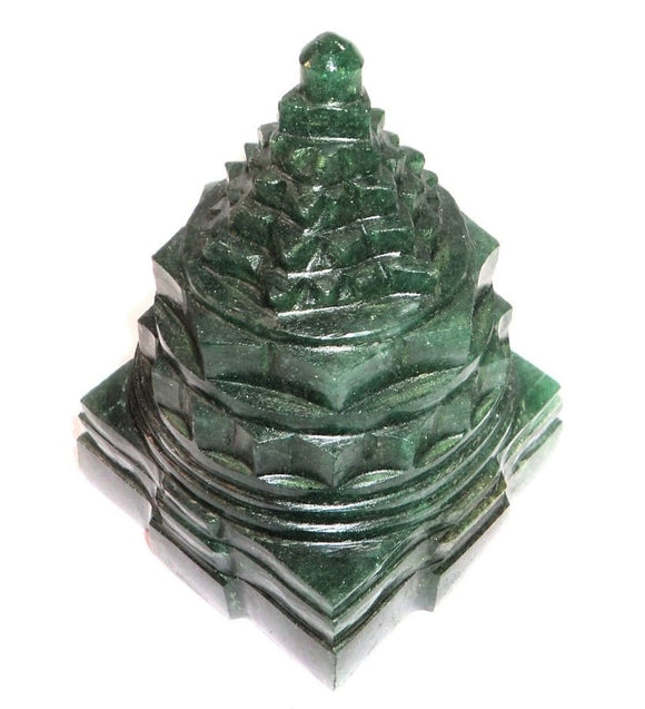 Green Jade Meru shree yantra - Margaj