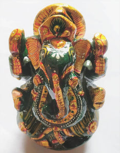 ganesh green jade margaj idol