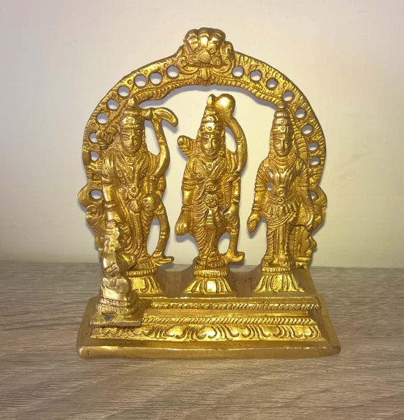 Ram Darbaar (Durbar) Idol brass with sita laxman