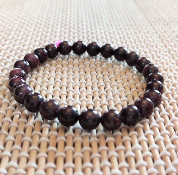garnet bracelet gomed red stone