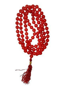 Red Hakik Agate Mala for Mangal Dosh Mars