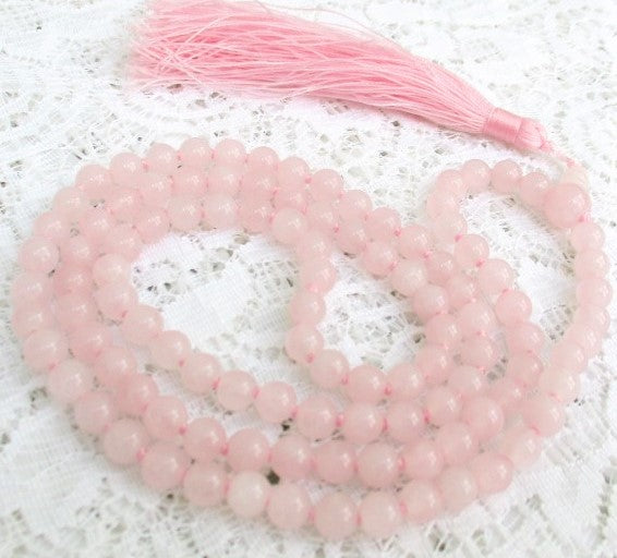 Rose quartz Mala rosary