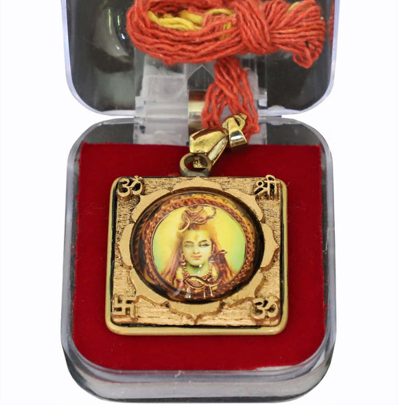shiva pendant locket