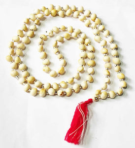 Chirmi Gunja Mala - White natural