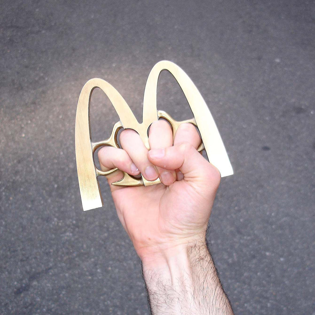 Famous Brand Logo Weapons - Tom Galle - McDonald's Brass Knuckles