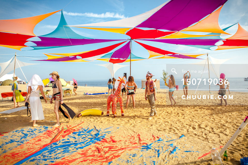 150719036 |  Multicolored open air shade pavilion tent. —Gratitude Migration 2015: Summer Dream. Morning Glor... | Team Chuubie
