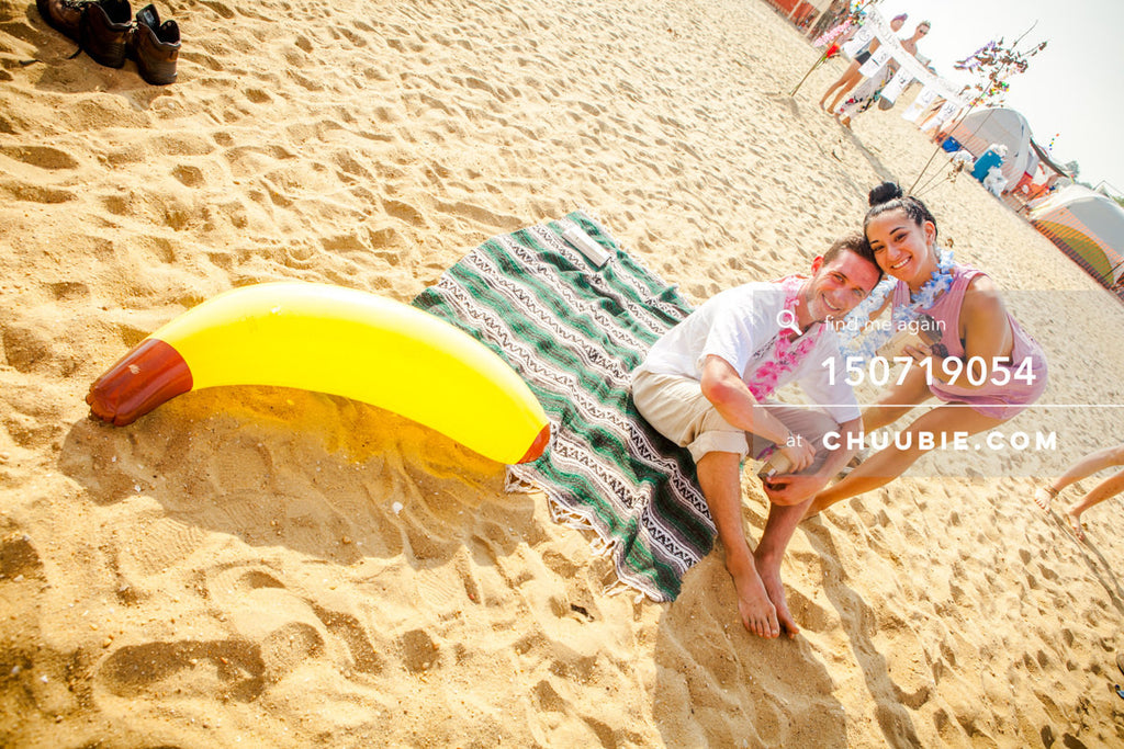 150719054 |  Giant inflatable banana on beach —Gratitude Migration 2015: Summer Dream. Morning Gloryville cam... | Team Chuubie