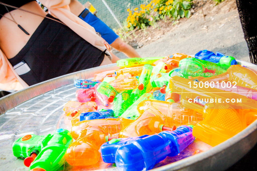 150801002 | Water Guns! 💦 🔫  —Morning Gloryville: Brunch Rave North Brooklyn Farms | Team Chuubie