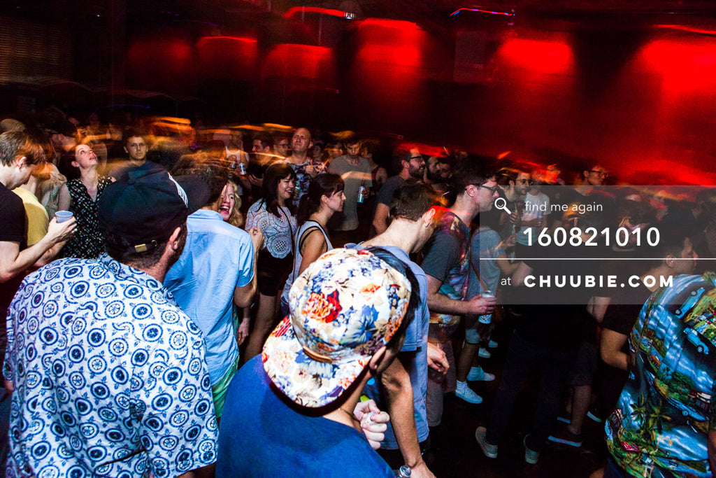160821010 |  Motion trail blur of the dance floor crowd. Electric Minds 10: Sublimate with Ben UFO and Joy Or... | Team Chuubie