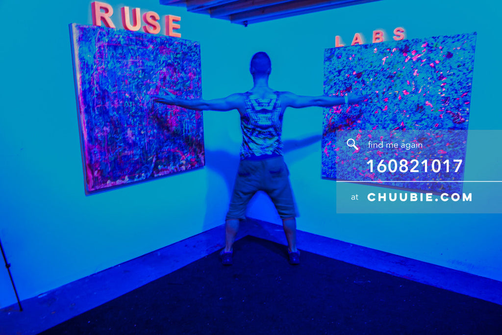 160821017 |  Ben showing us the Ruse Labs experiential room, fully equipped with art to view through (augment... | Team Chuubie