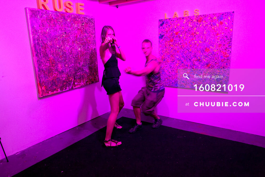 160821019 |  The Ruse Labs experiential room, fully equipped with art to view through (augmented reality) hea... | Team Chuubie
