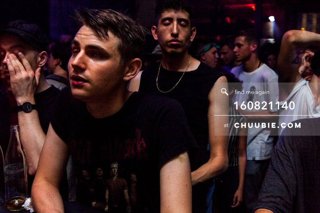 160821140 |  Front row ravers eyes closed. Electric Minds 10: Sublimate with Ben UFO and Joy Orbison at secre... | Team Chuubie