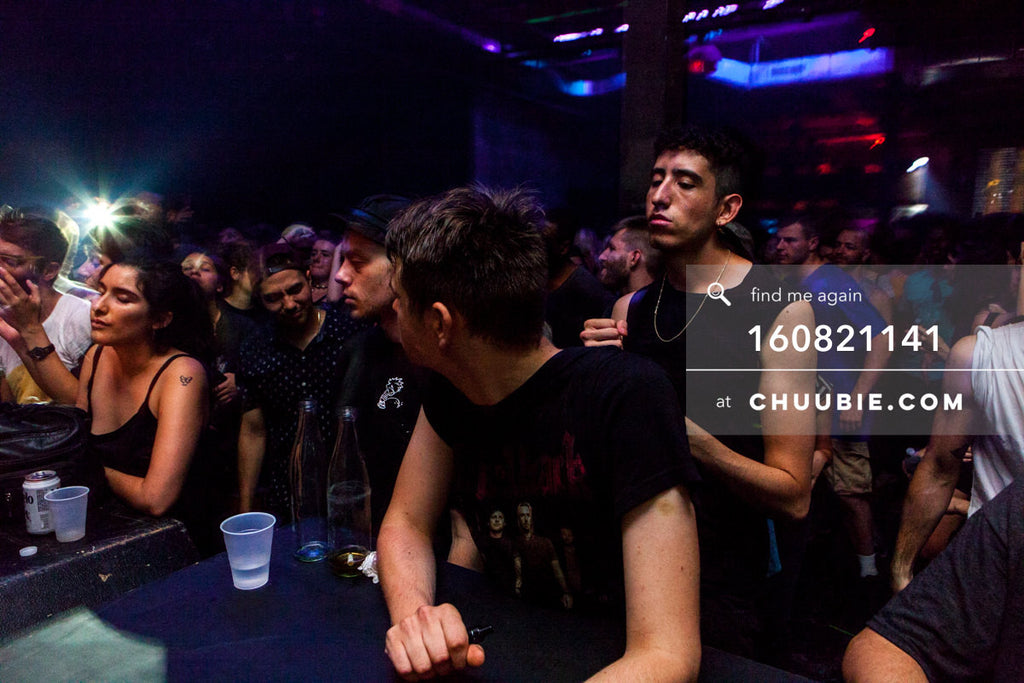 160821141 |  Front row ravers eyes closed in cinematic lighting. Electric Minds 10: Sublimate with Ben UFO an... | Team Chuubie
