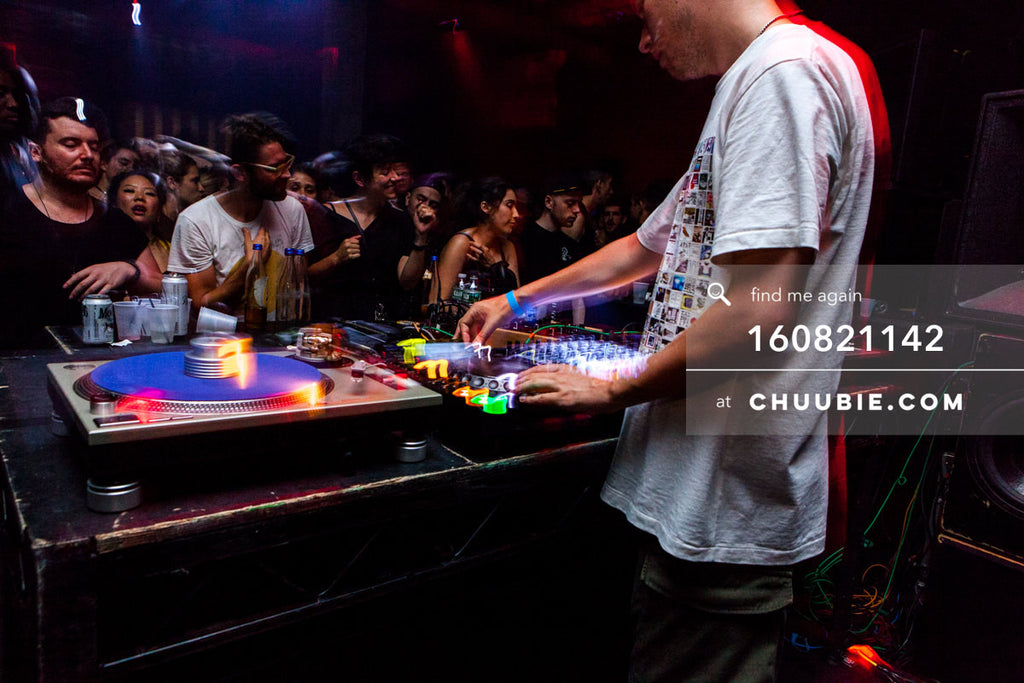160821142 |  Joy Orbison (Peter O'Grady) behind the decks to a full house. Electric Minds 10: Sublimate with ... | Team Chuubie