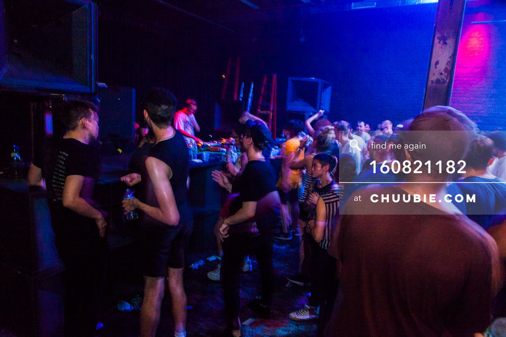160821182 |  Crowd in blue indigo light Electric Minds 10: Sublimate with Ben UFO and Joy Orbison at secret B... | Team Chuubie