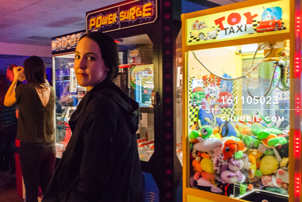 161105023 | Ray Ban x Boiler Room Weekender photos: portrait of Sloane by arcade machines during Octo Octa se... | Team Chuubie