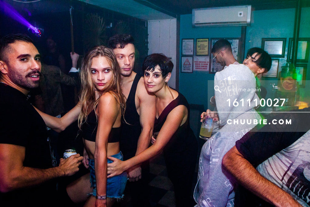 161110027 | Eman, Stav, Alessio, and Kim Moema of Techno Queers NY at Bossa Nova Civic Club — at BROMO 1 Year... | Team Chuubie