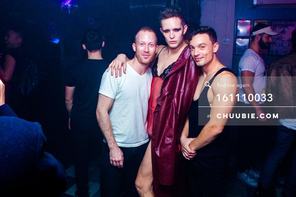 161110033 | Major cuties Lucas Blair, Tyler Ashley and Alessio of Techno Queers NY — at BROMO 1 Year Annivers... | Team Chuubie