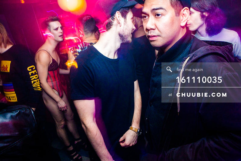 161110035 | Tyler Ashley, Matt Lightfoot, Servito in midmotion blur — at BROMO 1 Year Anniversary with Butche... | Team Chuubie